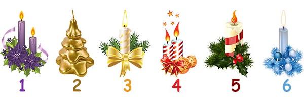 Выбери свечу и узнай, что тебе подарит Старый Новый Год