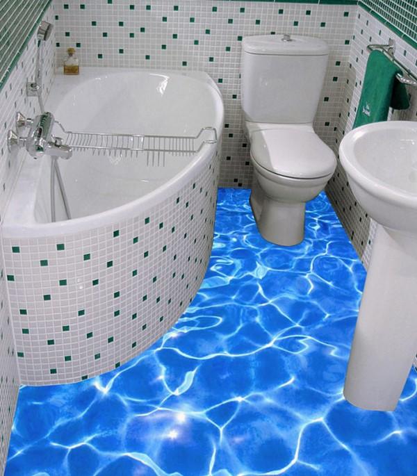 Восхитительные варианты 3D полов в ванной комнате