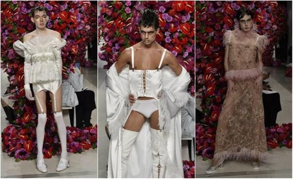 �спанский дизайнер Palomo представил новую коллекцию мужской одежды на Нью-Йоркской Неделе моды