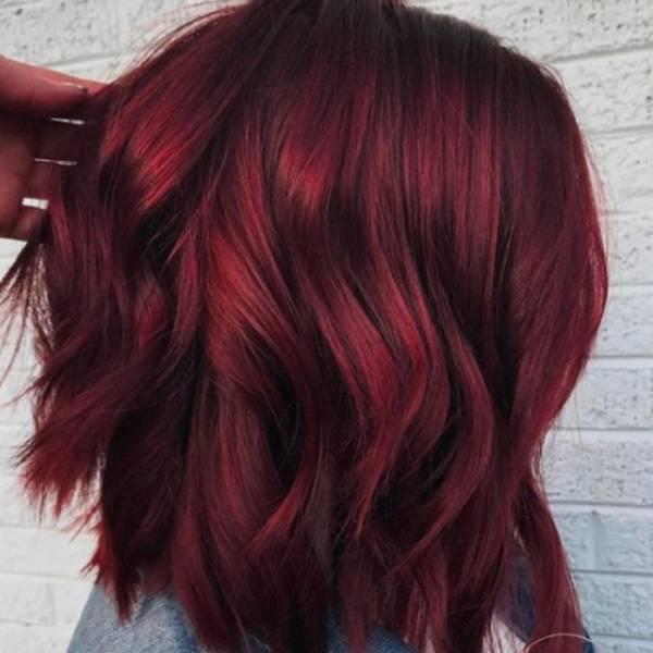 Глинтвейн — цвет волос, который будет популярным зимой-2018