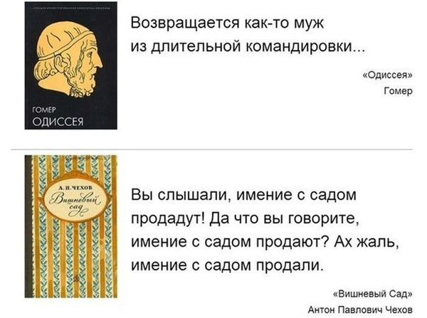 Самое краткое содержание известных литературных произведений