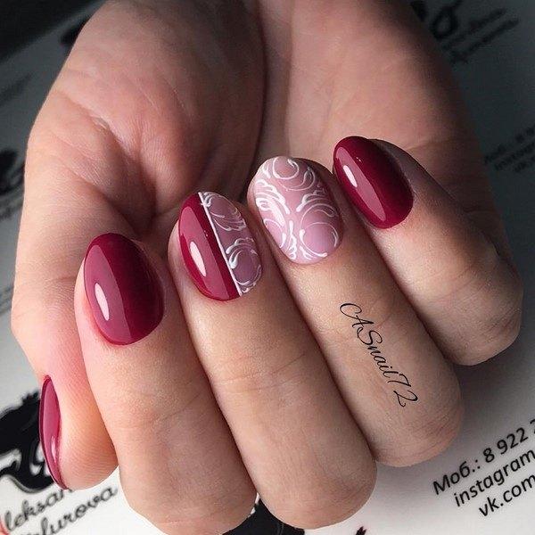 Красивые варианты маникюра с дизайном для коротких ногтей