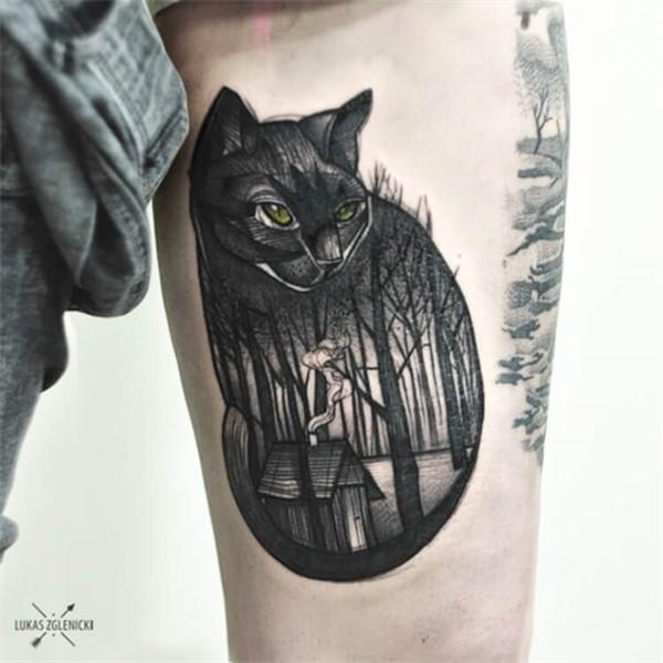 30+ самых лучших татуировок с котиками, от которых мы в восторге!