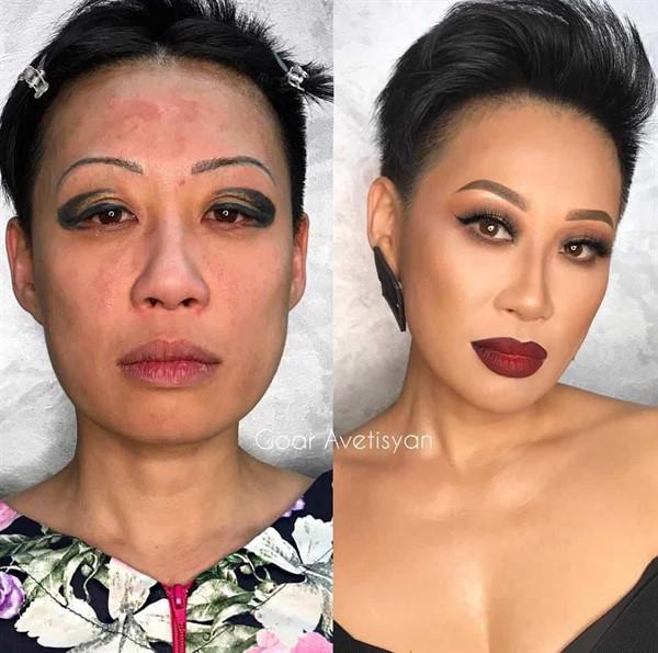 Визажист возвращает женщинам уверенность в себе, потрясающе преображая их внешность