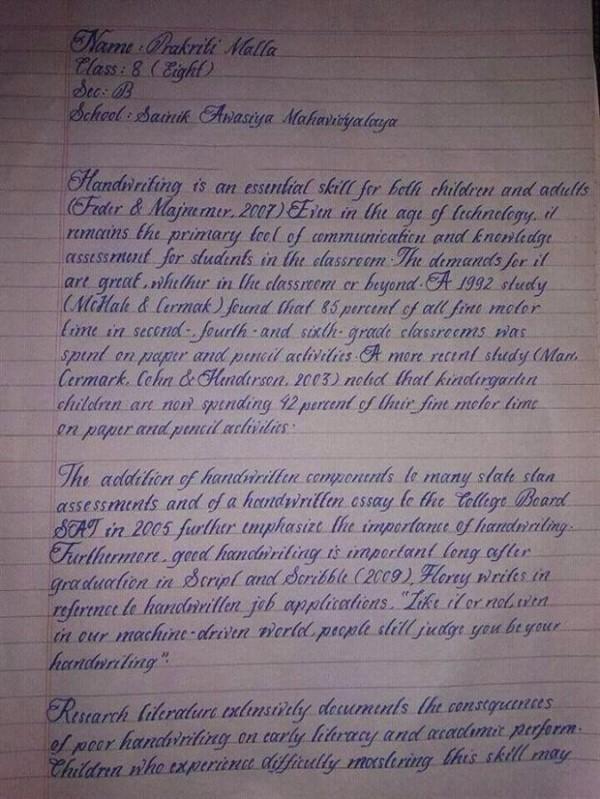 Мечта перфекциониста: 15 людей с самым красивым почерком в мире