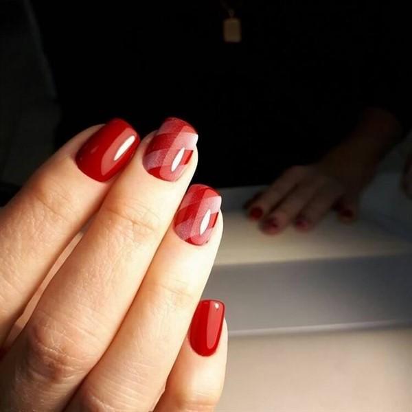 Вся роскошь красного в изумительных идеях для маникюра