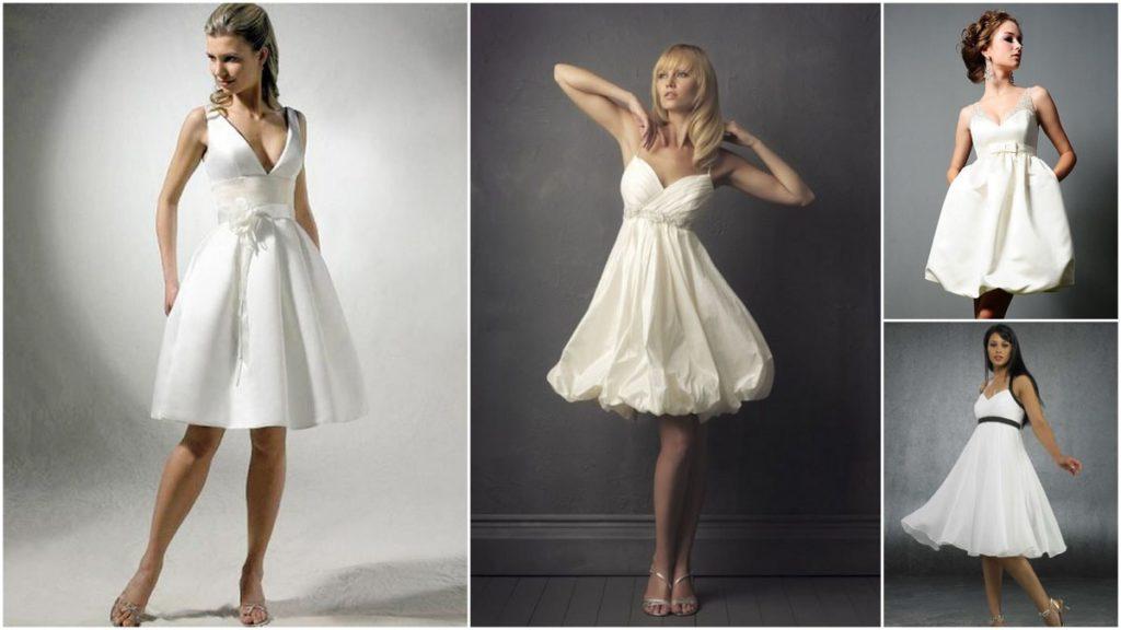 Короткие свадебные платья на пике популярности